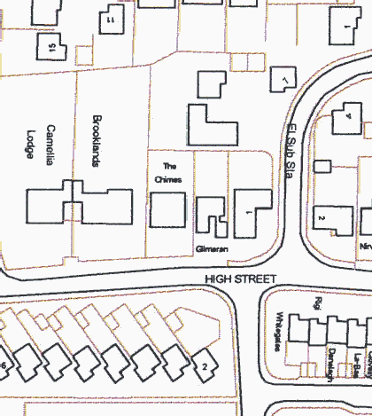 Fig. 1 Canewdon showing the two designated conservation areas and listed buildings (dotted)